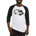 Food Truck: Basic (White) Baseball Jersey