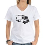 Food Truck: Basic (White) Women's V-Neck T-Shirt