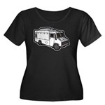 Food Truck: Basic (White) Women's Plus Size Scoop