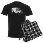 Food Truck: Basic (White) Men's Dark Pajamas