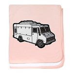 Food Truck: Basic (White) baby blanket
