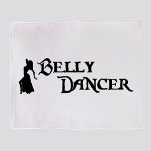 Belly Dancer Pose Throw Blanket