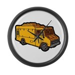 Food Truck: Basic (Yellow) Large Wall Clock