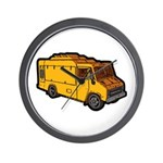Food Truck: Basic (Yellow) Wall Clock