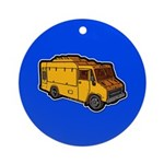 Food Truck: Basic (Yellow) Ornament (Round)
