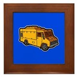 Food Truck: Basic (Yellow) Framed Tile