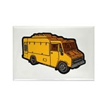 Food Truck: Basic (Yellow) Rectangle Magnet (10 pa