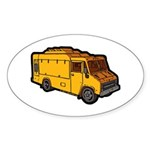 Food Truck: Basic (Yellow) Sticker (Oval 50 pk)