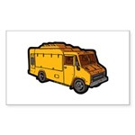 Food Truck: Basic (Yellow) Sticker (Rectangle 50 p