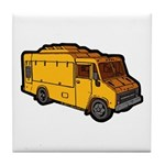 Food Truck: Basic (Yellow) Tile Coaster