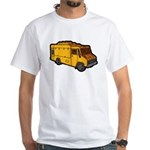 Food Truck: Basic (Yellow) White T-Shirt