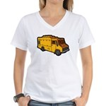Food Truck: Basic (Yellow) Women's V-Neck T-Shirt