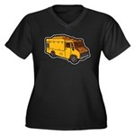 Food Truck: Basic (Yellow) Women's Plus Size V-Nec