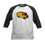Food Truck: Basic (Yellow) Kids Baseball Jersey