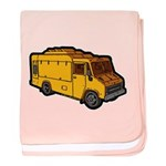 Food Truck: Basic (Yellow) baby blanket