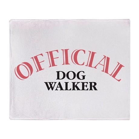 Official Dog Walker Throw Blanket