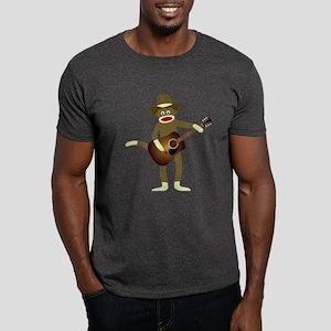 Sock Monkey Country Music Dark T-Shirt