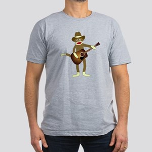 Sock Monkey Country Music Men's Fitted T-Shirt