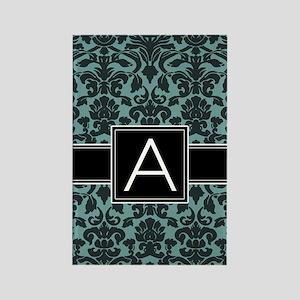 Monogram Letter A Rectangle Magnet