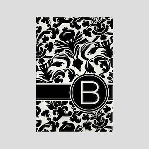 Monogram Letter B Rectangle Magnet