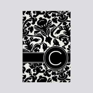 Monogram Letter C Rectangle Magnet