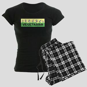 Vegetarian Cows Women's Dark Pajamas