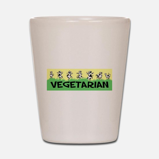 Vegetarian Cows Shot Glass