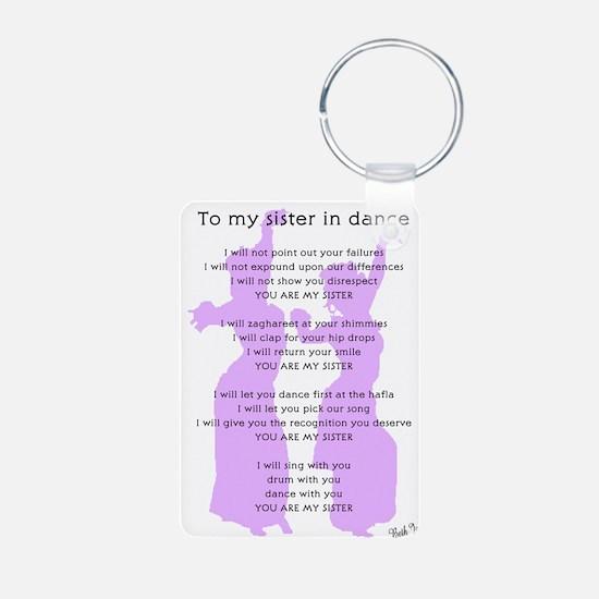 Bellydance Sister Poem Keychains