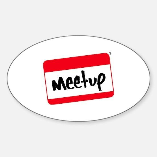Meet-up Promos Sticker (Oval)