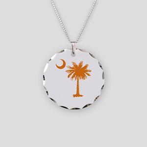 SC Palmetto & Crescent (O) Necklace Circle Charm