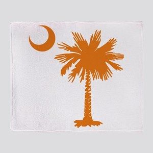 SC Palmetto & Crescent (O) Throw Blanket
