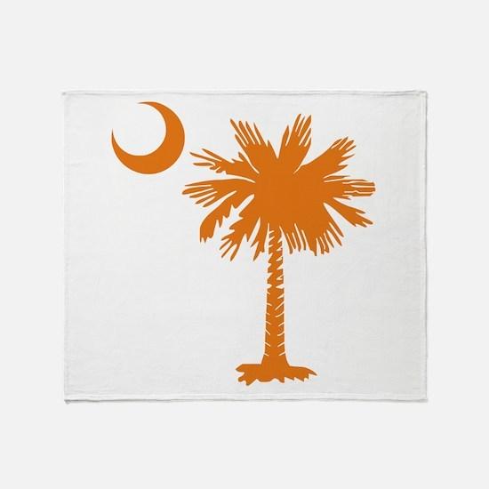 SC Palmetto & Crescent (O) Throw Blanket