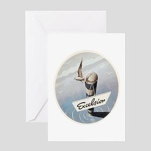 Vintage Nautical Seaside Greeting Card