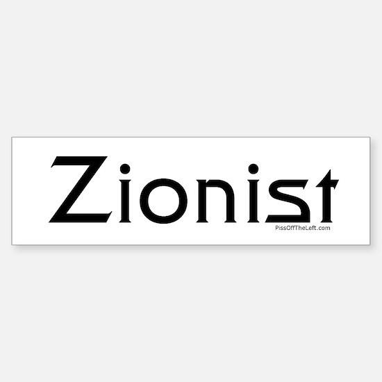 Zionist Bumper Bumper Bumper Sticker