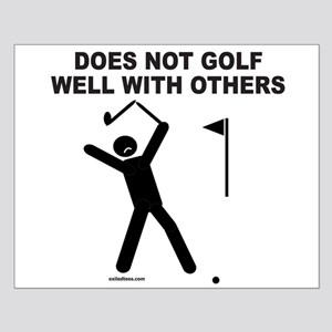 GOLF HUMOR Small Poster