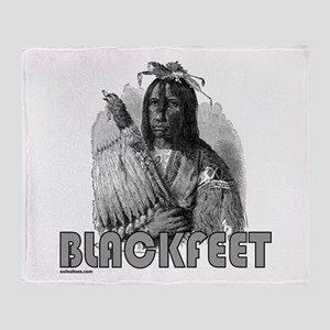 BLACKFEET INDIAN CHIEF Throw Blanket