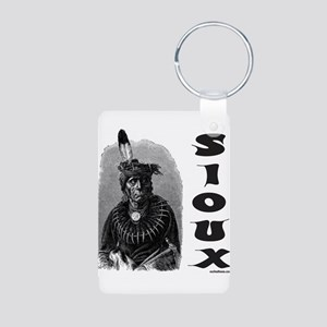 SIOUX INDIAN CHIEF Aluminum Photo Keychain