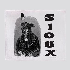 SIOUX INDIAN CHIEF Throw Blanket