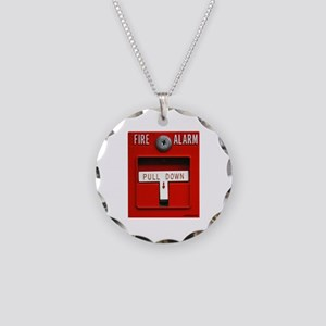 FIRE ALARM Necklace Circle Charm