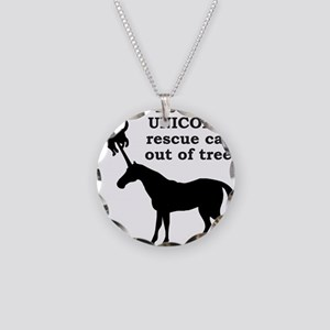 UNICORN Necklace Circle Charm