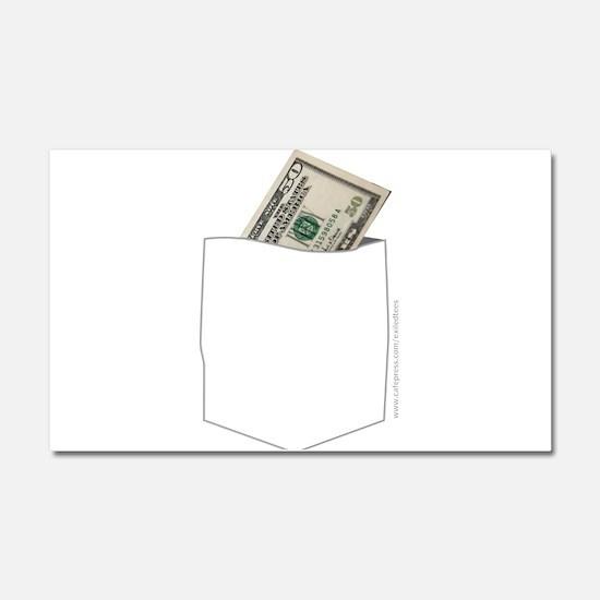 CASH MONEY Car Magnet 20 x 12