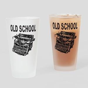 OLD SCHOOL TYPEWRITER Drinking Glass