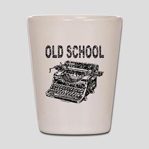 OLD SCHOOL TYPEWRITER Shot Glass