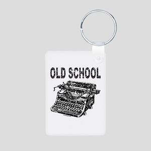 OLD SCHOOL TYPEWRITER Aluminum Photo Keychain