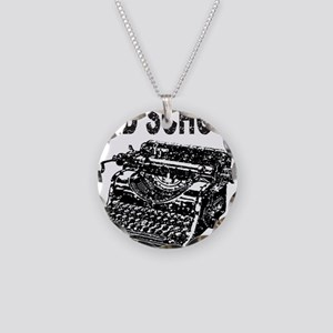 OLD SCHOOL TYPEWRITER Necklace Circle Charm