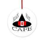 Black Hat Cafe Ornament (Round)