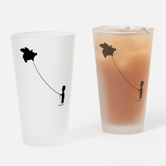 WHEN PIGS FLY Drinking Glass