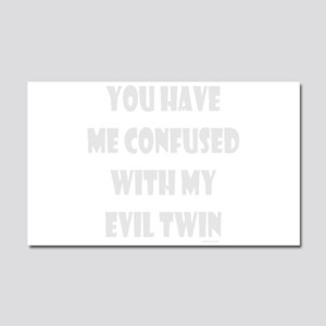 EVIL TWIN Car Magnet 20 x 12