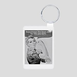 WORKING WOMEN Aluminum Photo Keychain