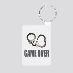 HANDCUFFS/POLICE Aluminum Photo Keychain